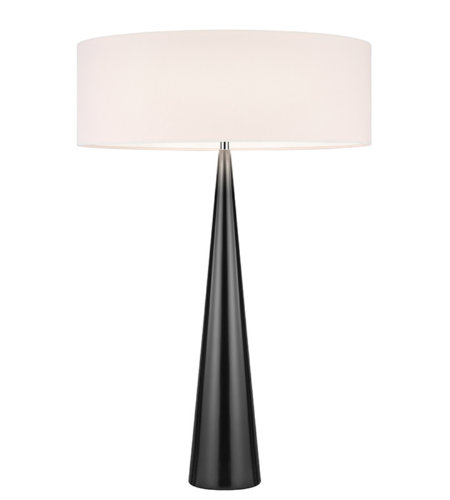 Sonneman 6140.62OL Big Table Cone 3 Light Table Lamp in Gloss Black