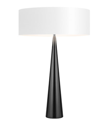 Sonneman 6140.62W Big Table Cone 3 Light Table Lamp in Gloss Black