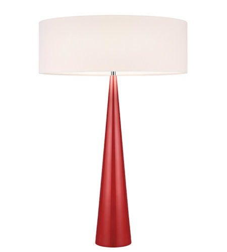 Sonneman 6140.64OL Big Table Cone 3 Light Table Lamp in Gloss Red