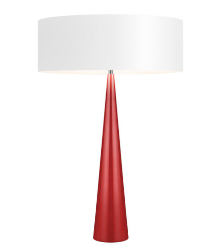 Sonneman 6140.64W Big Table Cone 3 Light Table Lamp in Gloss Red