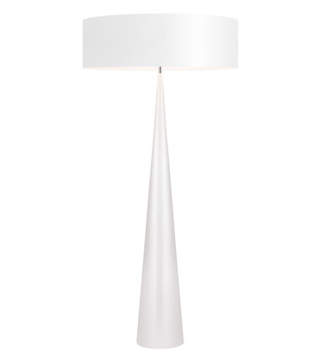 Sonneman 6141.60w Big Floor Cone Contemporary 3 Light Floor Lamp In Gloss White