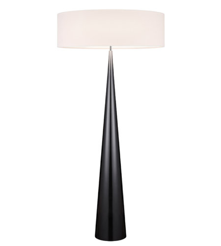 Sonneman 6141.62ol Big Floor Cone Contemporary 3 Light Floor Lamp In Gloss Black