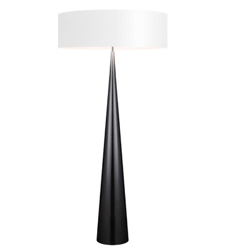 Sonneman 6141.62w Big Floor Cone Contemporary 3 Light Floor Lamp In Gloss Black