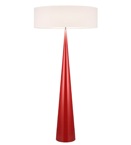 Sonneman 6141.64ol Big Floor Cone Contemporary 3 Light Floor Lamp In Gloss Red