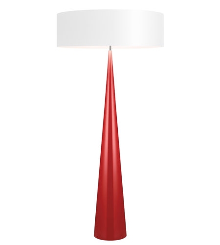Sonneman 6141.64w Big Floor Cone Contemporary 3 Light Floor Lamp In Gloss Red