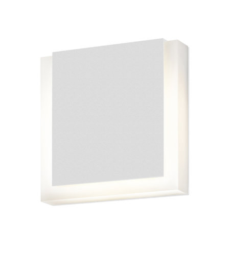 Sonneman 7214.98-WL SQR LED Sconce in Textured White