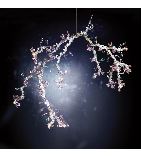 Swarovski Cpbu165s Blossom Led Pendant With Spring Crystals In Aurelia
