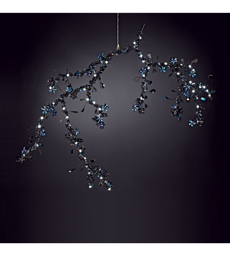 Swarovski Cpbn165s Blossom 1 Light Pendant With Spring Crystals In Aurelia