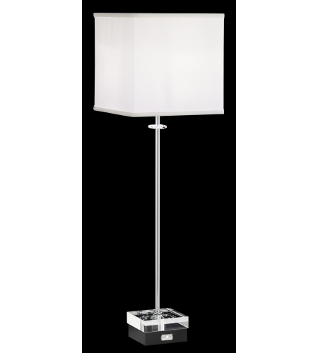 Swarovski Skb300n-Bk4cl Brillet Table Lamps 1 Light 110v Table Lamps In Gloss Black With Clear Crystals In Gloss Black