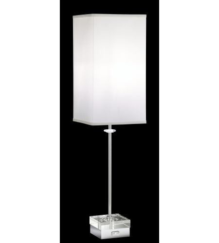 Swarovski Skb400n-Bk4cl Brillet Table Lamps 1 Light 110v Table Lamps In Stainless Steel With Clear Crystals In Stainless Steel