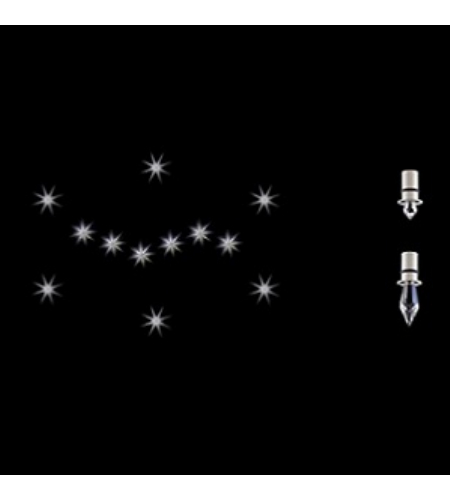 Swarovski A9945nr100005 Starled Kits Led 110v Close To Ceiling In Nickel With Clear Crystals In Nickel