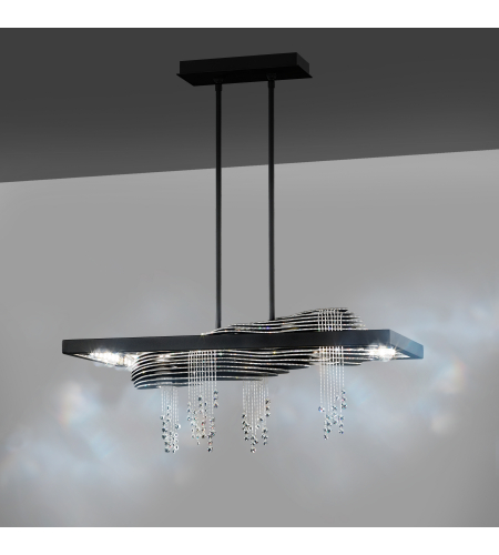 Swarovski Sta500n-Bk1s Sevetti Led 110v Pendant In Black With Swarovski Crystal Crystals In Black