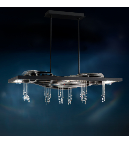 Swarovski Sta700n-Bk1s Sevetti Led 110v Pendant In Black With Swarovski Crystal Crystals In Black
