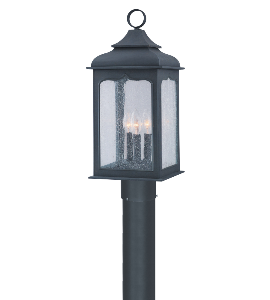 Troy Exterior Lighting P2015ci Henry Street 3 Light Exterior Medium Post Mount Lantern In