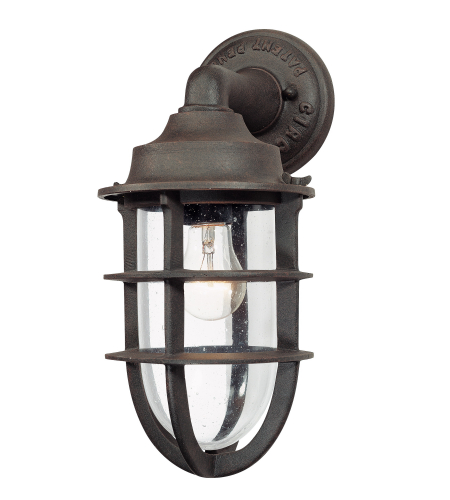 Troy Exterior Lighting B1866NR Wilmington 1 Light Exterior Medium Wall Mount Lantern in Nautical Rust