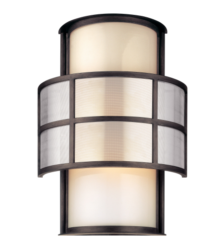 Troy Exterior Lighting B2733 Discus 2 Light Exterior Large Wall Mount Lantern in Graphite