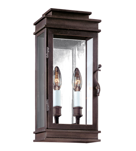 Troy Exterior Lighting B2971 Vintage 2 Light Exterior Small Wall Mount Lantern in Vintage Bronze