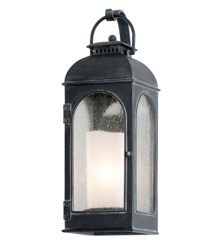 Troy Exterior Lighting B3281 Derby 1 Light Exterior Small Wall Mount Lantern in Antique Iron