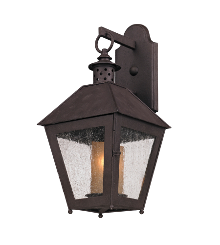 Troy Exterior Lighting B3292 Sagamore 1 Light Exterior Small Wall Mount Lantern in Centennial Rust
