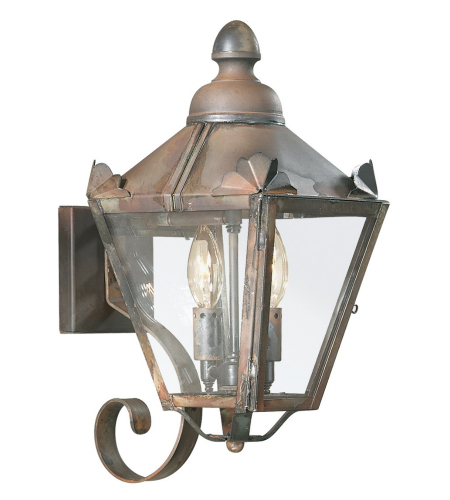 Troy Exterior Lighting B8940NR Preston 2 Light Exterior Small Wall Mount Lantern in Natural Rust