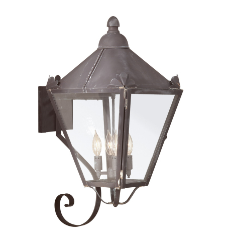 Troy Exterior Lighting B8946CI Preston 4 Light Exterior Large Wall Mount Lantern in Charred Iron
