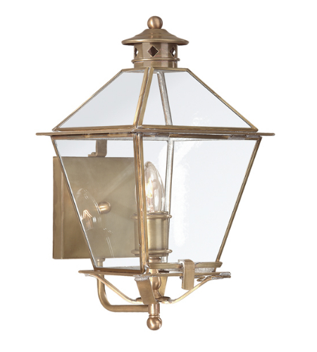 Troy Exterior Lighting B8951NAB Montgomery 1 Light Exterior Medium Wall Mount Lantern in Natural Aged Brass