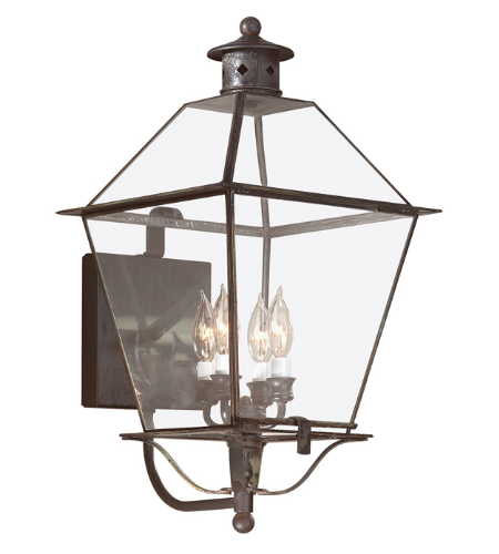 Troy Exterior Lighting B8957CI Montgomery 4 Light Exterior Xlarge Wall Mount Lantern in Charred Iron