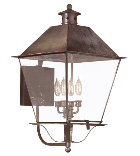 Troy Exterior Lighting B9140NR Montgomery 4 Light Exterior Xxlarge Wall Mount Lantern in Natural Rust