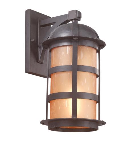 Troy Exterior Lighting B9253NB Aspen 1 Light Exterior Large Wall Mount Lantern in Natural Bronze