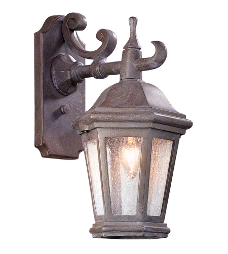 Troy Exterior Lighting BCD6890BZP Verona 1 Light Exterior Small Wall Mount Lantern in Bronze Patina