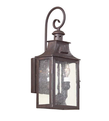 Troy Exterior Lighting BCD9001OBZ Newton 2 Light Exterior Small Wall Mount Lantern in Old Bronze