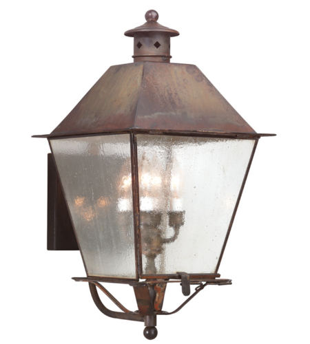 Troy Exterior Lighting BCD9137NR Montgomery 4 Light Exterior Xlarge Wall Mount Lantern in Natural Rust