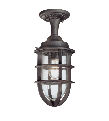 Troy Exterior Lighting C1864NR Wilmington 1 Light Exterior Medium Ceiling Mount Semi-Flush in Nautical Rust