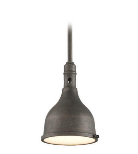Troy Exterior Lighting F3866 Telegraph Hill 1 Light Exterior Medium Ceiling Mount Pendant in Aged Pewter
