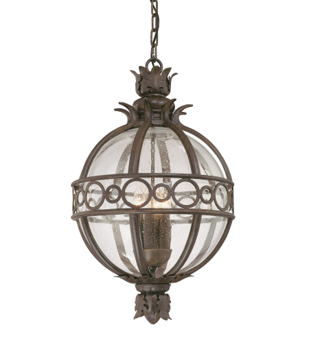 Troy Exterior Lighting F5008CB Campanile 3 Light Exterior Large Ceiling Mount Hanging Lantern in Campanile Bronze