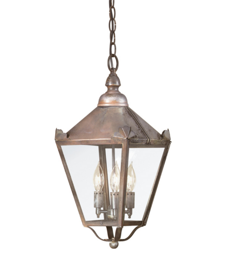 Troy Exterior Lighting F8945NR Preston 3 Light Exterior Medium Ceiling Mount Hanging Lantern in Natural Rust