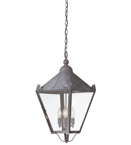 Troy Exterior Lighting F8948CI Preston 4 Light Exterior Large Ceiling Mount Hanging Lantern in Charred Iron