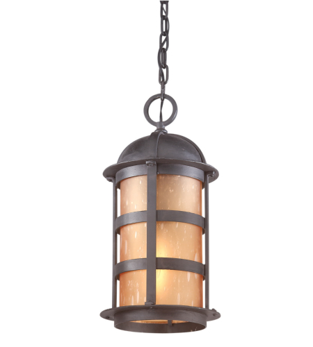 Troy Exterior Lighting F9255NB Aspen 1 Light Exterior Large Ceiling Mount Hanging Lantern in Natural Bronze