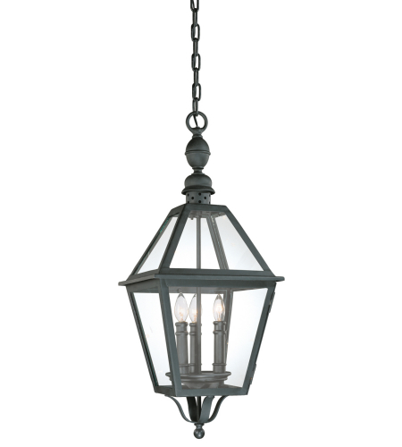 Troy Exterior Lighting F9627NB Townsend 3 Light Exterior Large Ceiling Mount Hanging Lantern in Natural Bronze