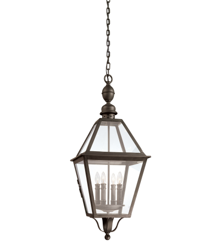 Troy Exterior Lighting F9628NB Townsend 4 Light Exterior Xlarge Ceiling Mount Hanging Lantern in Natural Bronze