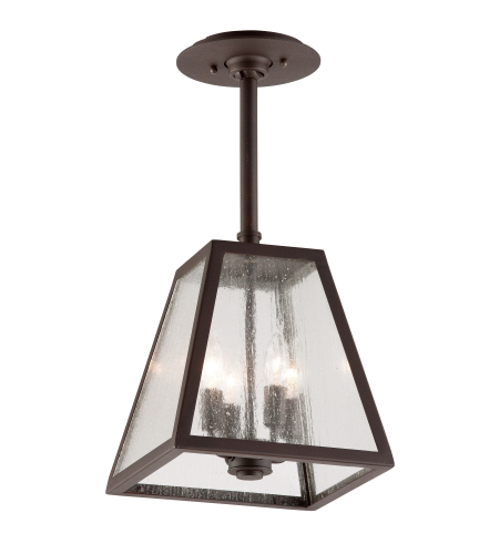 Troy Exterior Lighting FCD3437 Amherst 4 Light Exterior Large Ceiling Mount Lantern in River Valley Rust