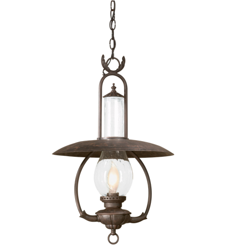 Troy Exterior Lighting FCD9013OBZ La Grange 1 Light Exterior Large Ceiling Mount Hanging Lantern in Old Bronze