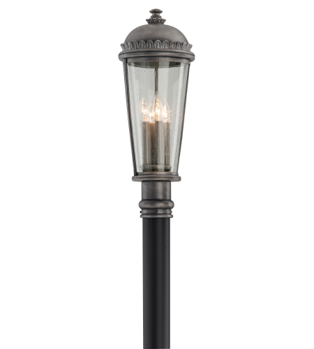 Troy Exterior Lighting P3565 Ambassador 4 Light Exterior Medium Ceiling Mount Chandelier in Aged Pewter