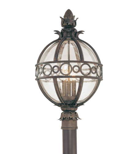 Troy Exterior Lighting P5006CB Campanile 3 Light Exterior Large Post Mount Lantern in Campanile Bronze