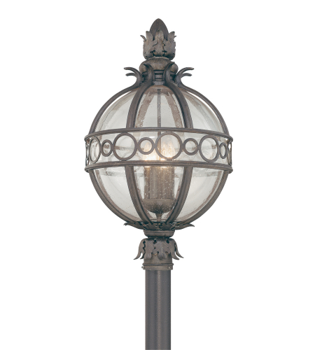 Troy Exterior Lighting P5007CB Campanile 4 Light Exterior Xlarge Post Mount Lantern in Campanile Bronze
