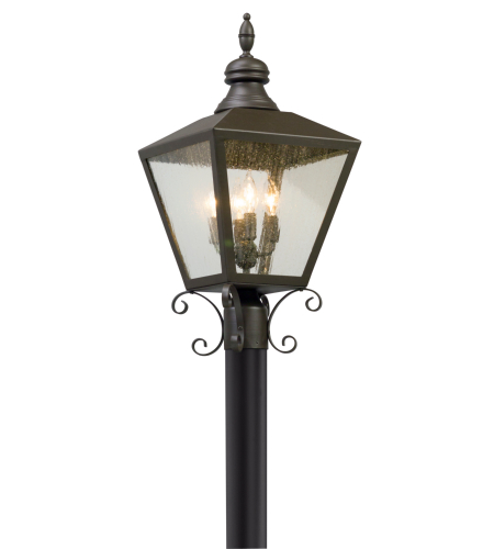Troy Exterior Lighting P5195 Mumford 4 Light Exterior Large Post Mount in Bronze