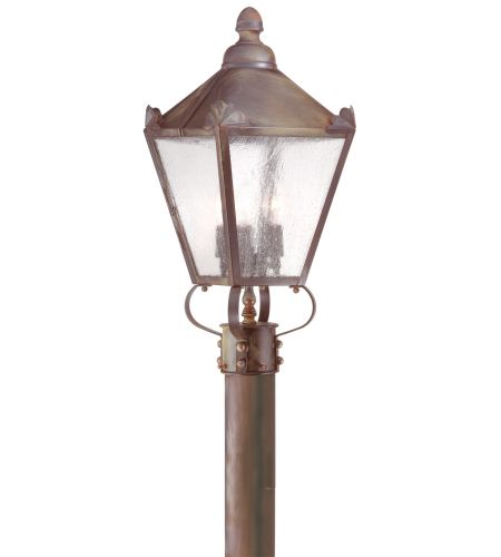 Troy Exterior Lighting P8944NR Preston 3 Light Exterior Medium Post Mount Lantern in Natural Rust