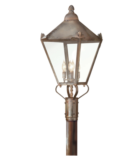 Troy Exterior Lighting P8947NR Preston 4 Light Exterior Large Post Mount Lantern in Natural Rust