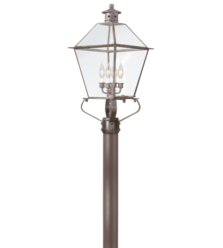 Troy Exterior Lighting P8958NR Montgomery 4 Light Exterior Xlarge Post Mount Lantern in Natural Rust