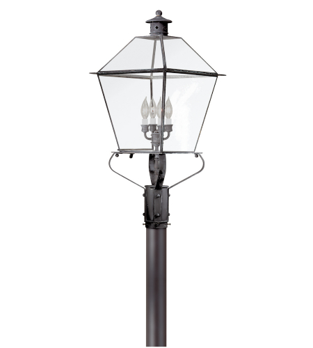 Troy Exterior Lighting P8961CI Montgomery 4 Light Exterior Xxlarge Post Mount Lantern in Charred Iron